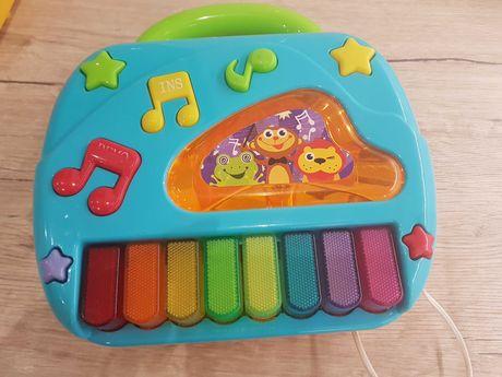Telefon pianino do zabawy dla dzieci klawisze interaktywne niesprawne