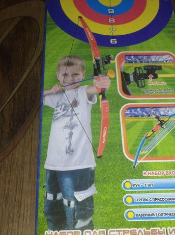 Лук и стрелы Limo Toy Меткий стрелок лазерный прицел присоски