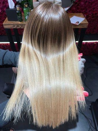 Keratynowe prostowanie włosów, glow hair , botoks , nanoplastia