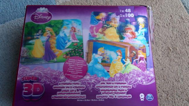 Puzzle 100 + 100 +48, Disney 3D