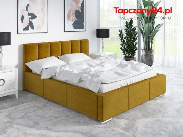 Łóżko sypialniane z pojemnikiem Zoe małżeńskie tapicerowane hit cena!!