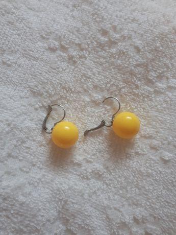 Kolczyki żółte kule