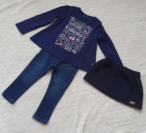 Mayoral Jeans Baby ORIGINAL Marines 92 bluzka spódniczka