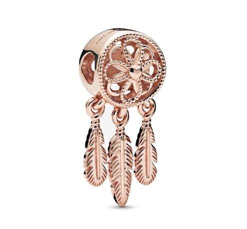 Srebrny charms zawieszka złoty łapacz snów do bransoletki Pandora