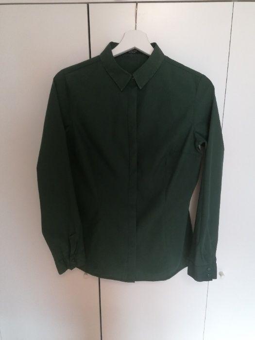 Elegancka oliwkowa koszula - Reserved - rozmiar 40 - gładki materiał Zdzieszowice - image 1