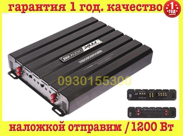 Автомобильный усилитель Boschmann XW-F4399 1200W 4/3/2 авто звук саб