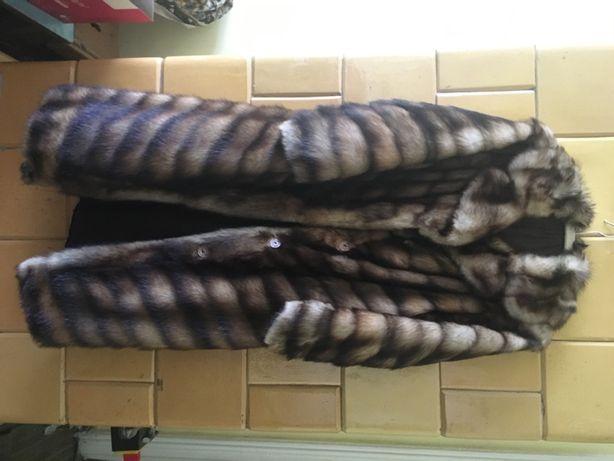 Eleganckie futro z tchórzofretek naturalne rozmiar L