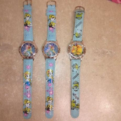 Zegarki dziecięce Kraina Lodu i Minionki nowe
