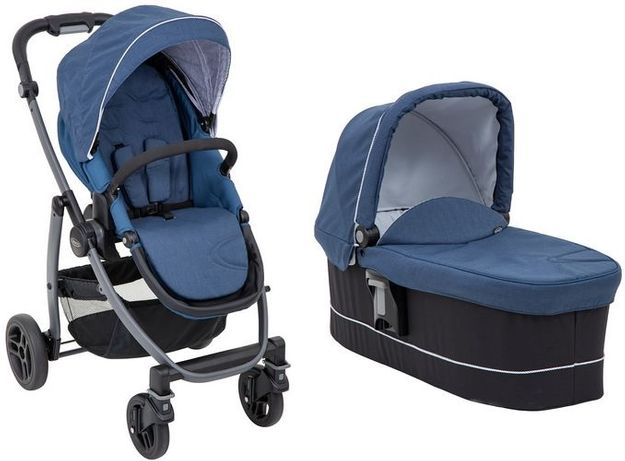 Graco Wózek spacerowy Evo AVANT Bretton Stripe,INK - GONDOLA 2W1