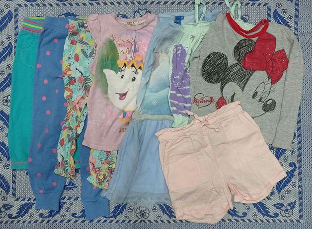 Вещи одежда для девочки на 3-4 года платье шорты бриджи футболка