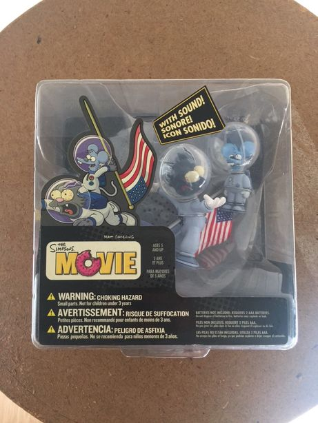 Simpsons action figure Mcfarlane itchy & scratchy