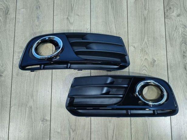 Решетка левая правая Audi Q5 решітка ліва права Ауди Ауді кю 5 ку 5