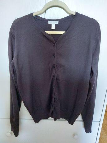 Czarny sweter kardigan h&m L