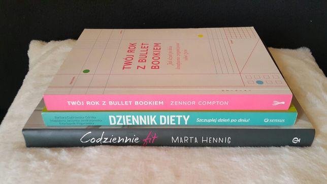 Dziennik diety Codziennie Fit Twój rok z bullet bookiem zestaw książek