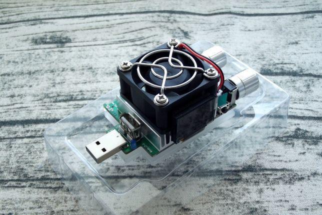 USB нагрузка, нагрузочный резистор 35 Вт JUWEI JW-D2 (J7-f) + тестер