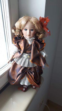 Śliczna Lalka Porcelanowa Szlachcianka Vintage (1)