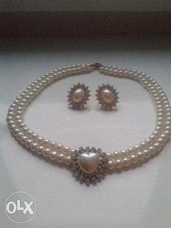 Komplet biżuterii z pereł