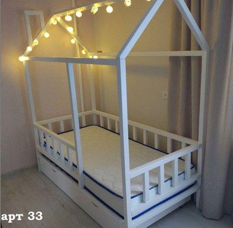 Ліжко будиночок дитяче з вільхи.Кровать домик.Будинок.Арт 20