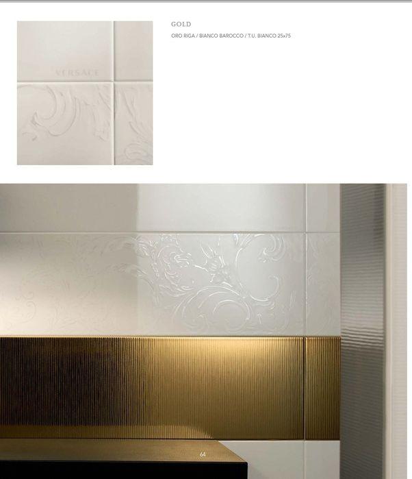 Płytki Versace Złote Oro Riga PVD 25x75 Poskwitów - image 1