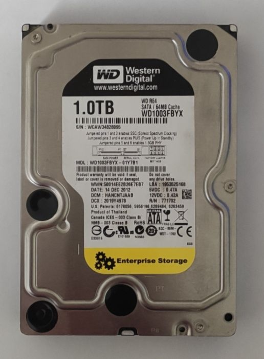 Жесткий диск WD 1TB Black RE4 WD1003FBYX Винница - изображение 1