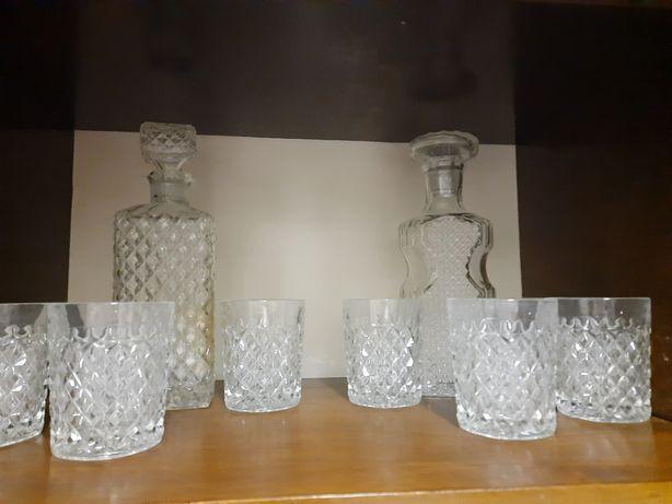 Набор из стекла. 6 стаканов и графин