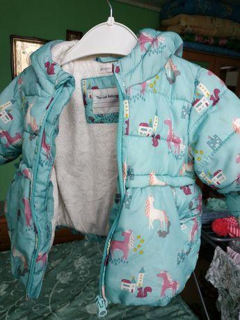 Теплая детская куртка