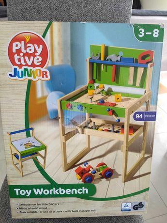 drewniany stół warsztatowy z narzędziami Play tive junior