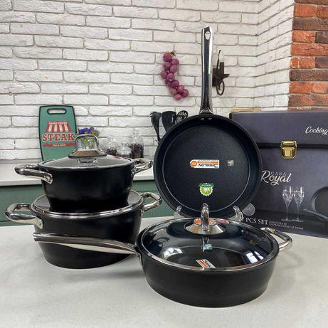 Набор посуды 7 предметов  .Кастрюля Сковородка , Топ
