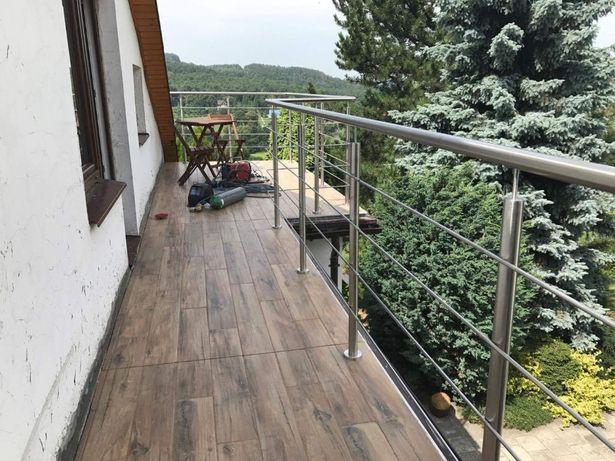 Balustrady Barierki balkony schody klatka schodowa taras z montażem