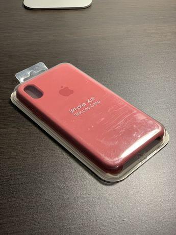 Etui iPhone XS różowe SIlicone Case z logo Apple