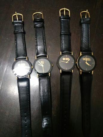 Relógios de pele genuína novos de coleção