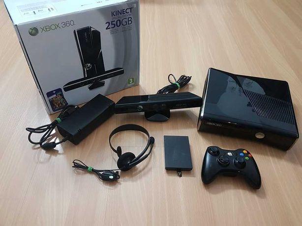 Konsola Xbox360 Slim 250Gb z kinectem, Karton, stan idealny + wymianna