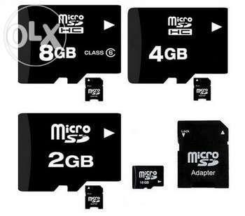 Lote de cartões de memória micro sd, 2gb, 4gb, 8gb, 16gb