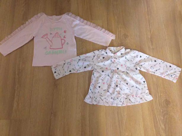 Ubranka dla dziewczynki w rozm. 80 - tylko po 1 dziecku, stan bdb