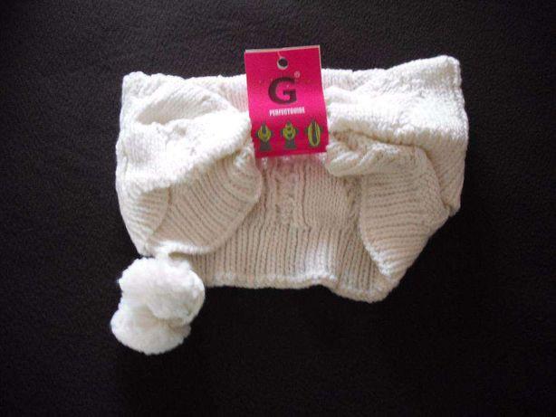 Gola bege em lã