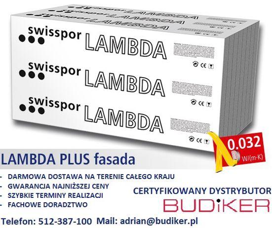Styropian Grafitowy LAMBDA PLUS FASADA 032 / SWISSPOR Dostawa Gratis !
