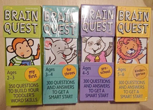 Brain Quest развивающие книги пособия на английском языке для детей