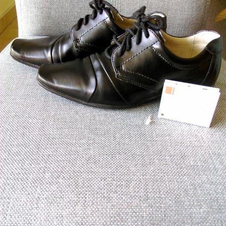 JAK NOWE skórzane czarne buty Smyk r. 33