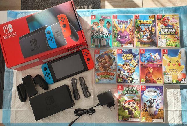 Nintendo switch nowa bogaty zestaw