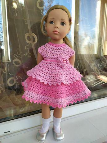 Рожева сукня для лялечки Готц Gotz. Одяг