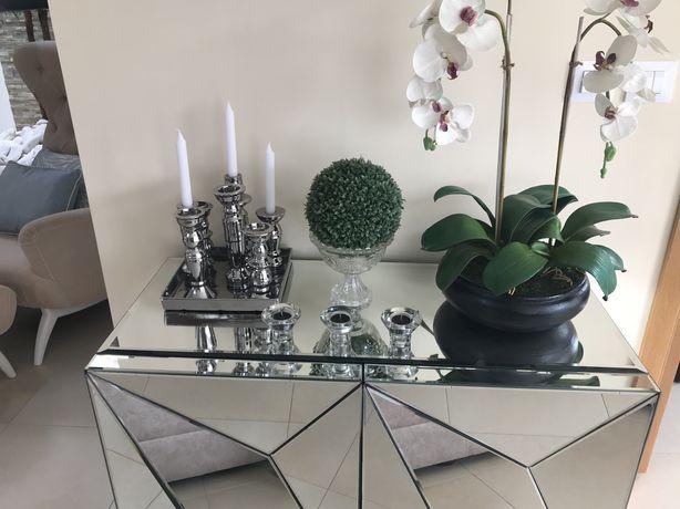 Candeeiro Suporte velas e bomboneira em cristal