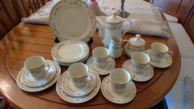 Serviço chá Budlet Fine China ivory Porcelana
