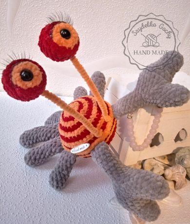 Krab Leonia maskotka zabawka amigurumi szydełko miś pluszak