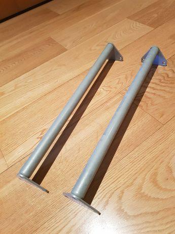 Varão (2 unid) em aço para roupeiro Komplement IKEA, 46cm