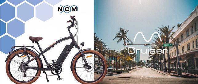"NCM Miami 26"" Bicicleta elétrica Cruiser Retro 48V Batería 16Ah 768Wh"