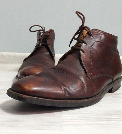 Мужские коричневые туфли ботинки 30,5см