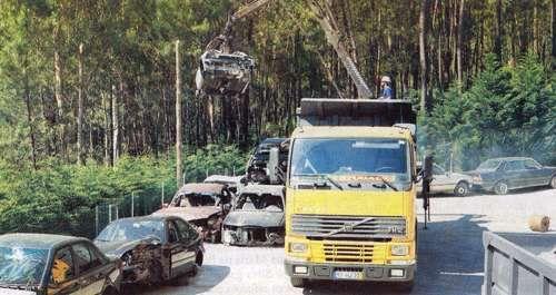 Centro abate veículos, viaturas em fim de vida e sucata