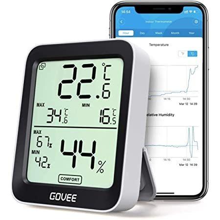 Govee Higrometro, termómetro, c/ bluetooth, temperatura e humidade