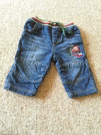 Ubranie spodnie jeansowe jeansy niemowlęce chłopięce 62