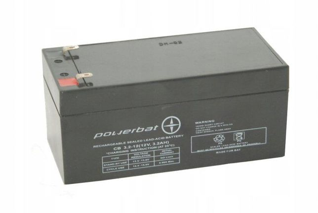 Akumulator żelowy Powerbat Cb 3,2, 12 12v 3,2Ah